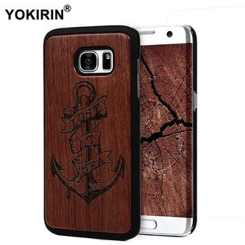 YOKIRIN Bamboo Vintage Sculpture Wood Case