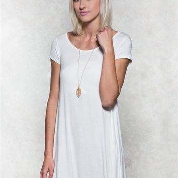 Strappy Back T-Shirt Dress