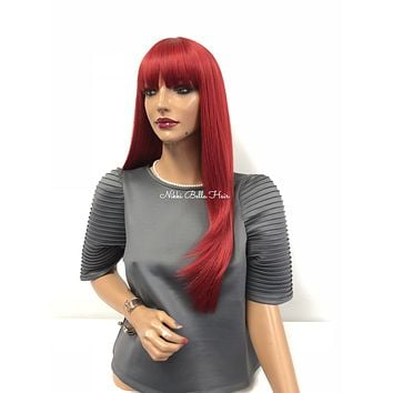 Red Swiss Full Wig 18"