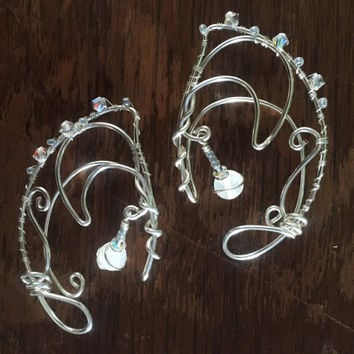 Winter Moon Elf Ear Cuffs