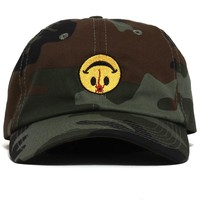 All Is Well Dad Hat Faded Woodland Camo