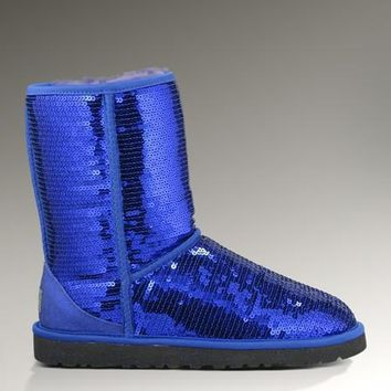 Ugg Classic Short Sparkles 3161 Blue Boots