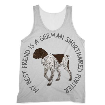 German Shorthaired Pointer with saying Designs by Amitie Sublimation Vest