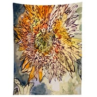 Ginette Fine Art Sunflower Prickly Face Tapestry
