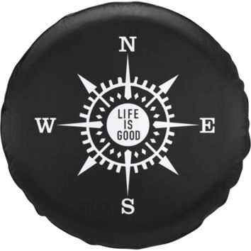 Life is Good Compass Tire Cover