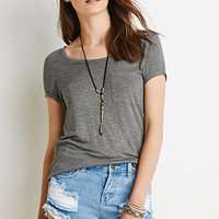 Cuffed-Sleeve Pocket Tee