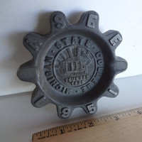 Vintage Metal  Ashtray Or Dish ASEE Michigan State College 1951 Measures 3 & 3/4 Inches Wide X 1/2 Inches Tall Engineering College