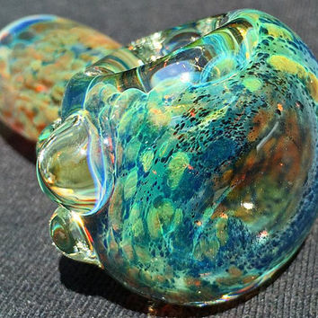 Glass Pipe, Thick Heady Boro Inside Out Space Galaxy Nebula Colorchanging Spoon Hand Pipe