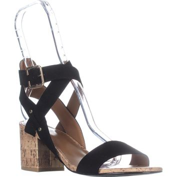Indigo Rd. Elea Heeled Ankle Strap Sandals, Black, 9 US