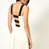 Heidi Strap Back Full Circle Skater Dress