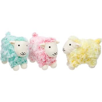 Petco Swirly Frosted Sheep Plush Dog Toy