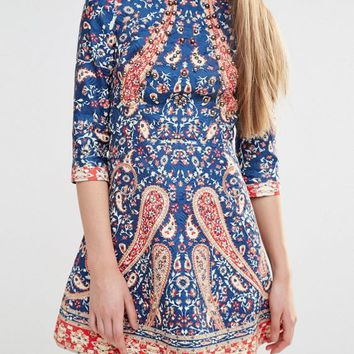 Comino Couture Beaded Mini Dress at asos.com