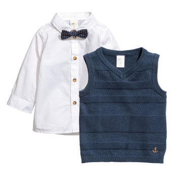 Shirt and Sweater Vest - from H&M