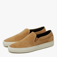Common Projects / Slip On Retro in Tan Suede