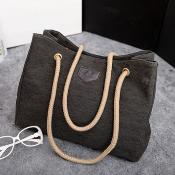 YBYT brand 2017 new casual canvas tote hotsale ladies shopping purse women shoulder messenger bags fresh large capacity handbags