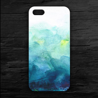 Blue Green Water Colors iPhone 4 and 5 Case and Samsung Galaxy S3/S4