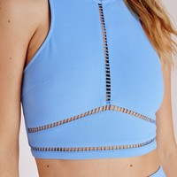 Missguided - Ladder Detail Crop Top Baby Blue