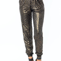 Shimmery-Leopard-Joggers COCOA - GoJane.com