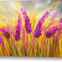Sunny Lavender Field - Impressionist Canvas Print
