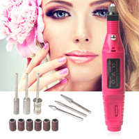 1 Set 6 Bits Power Drill Professional Electric Manicure Machine Nail Drill Pen Pedicure File Polish Shape Tool Feet Care Product