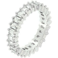 Classic Baguette Eternity Ring, size : 07