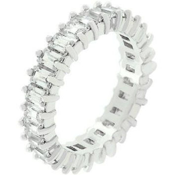 Classic Baguette Eternity Ring, size : 08