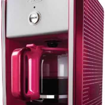 BELLA 13738 Dots Collection 12-Cup Coffee Maker, Fuchsia