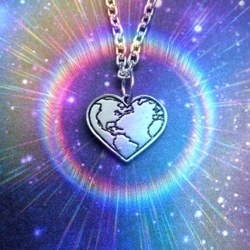 Earth Heart necklace, Gaia, mother earth