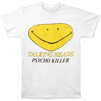 Talking Heads Men's  Psycho Killer Vintage T-shirt White