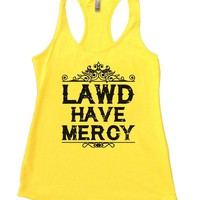 LAWD HAVE MERCY Womens Workout Tank Top