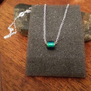 """Mood bead pendant on 20 """" sterling silver chain"""