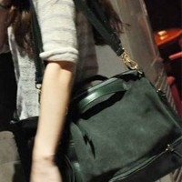 Fashion European Style Retro Motorcycle Bag-green from styleonline