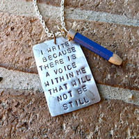 The Writer Necklace by Crafting4Cause on Etsy