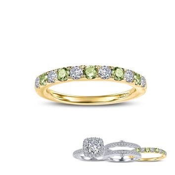 Lafonn Birthstone Sterling Silver Gold Plated August Ring (0.51cts CTTW)