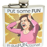 Barbuzzo 'Dysfunctional' Stainless Steel Hip Flask