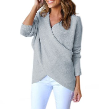 Irregular Knitting Sweater Fashion Women from Daniel monogram | T