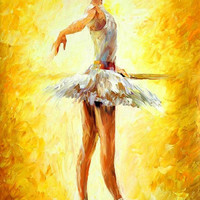 "In the ballet class - PALETTE KNIFE Figure Oil Painting On Canvas By Leonid Afremov - Size: 24"" x 36"" (60 cm x 90 cm) from afremov art"