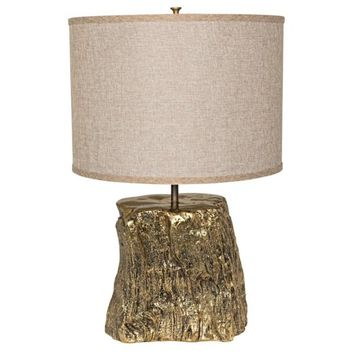Danish Table Lamp w/ Shade, Solid Brass