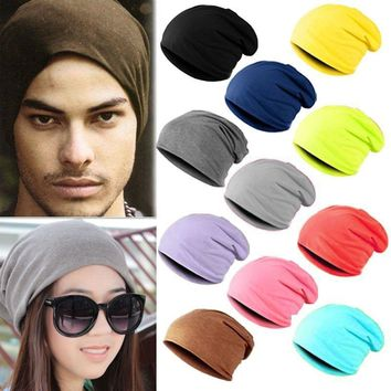 Unisex Women Men Knit Winter Warm Ski Crochet Slouch Hat Cap Beanie One Size
