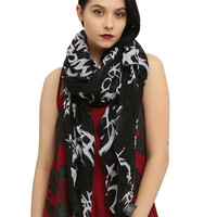 My Chemical Romance Tossed Logo Scarf