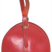 Carole M Red Leather Vintage Purse