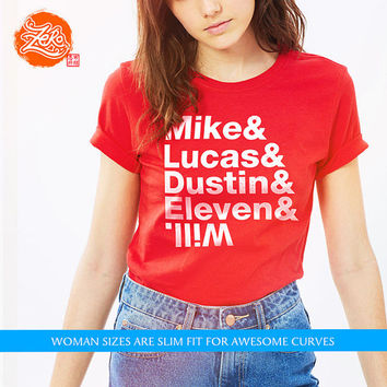 Womens: Stranger Things Kids / Helvetica Tee / Nostalgia / Upside Down / Typography / Netflix Tee / 1980s / Stranger Things