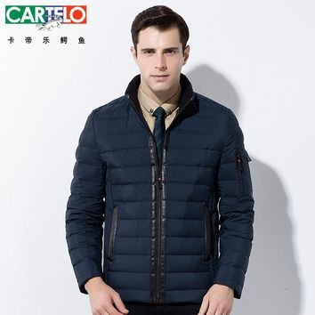 CARTELO/Brand Winter 90% Duck S-XXXL Casual Businese Down Jacket Winter Stand Collar Male Jackets Warm Thick Coat For Men