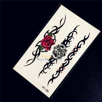 Tattoo Sticker 1PC Beauty Rose Flower Bracelet Temporary