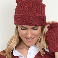 Ruched Hat w/Buttons by Simply Noelle