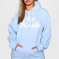 Plus Katie Girl Almighty Hoody | Boohoo