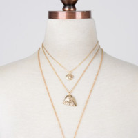 III Medallions Necklace