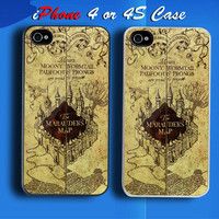 The marauder Map Custom iPhone 4 or 4S Case Cover from namina