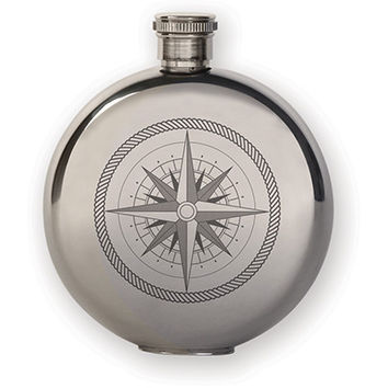 KIKKERLAND 3 OZ FLASK + COMPASS