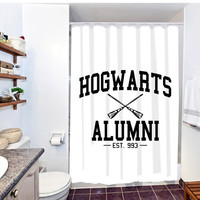 harry potter hogwarts alumni shower curtain